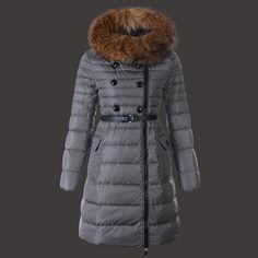 8cc80c3138ed 2014 Fashion Moncler Herisson Coat Womens Long Gray On Sale Outlet  Authentic