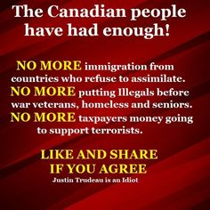 I'm not even Canadian, but this should also apply to the U. Political Memes, Politics, Canadian People, Instant Karma, Justin Trudeau, Hard Truth, True North, Freedom Of Speech, Things To Know