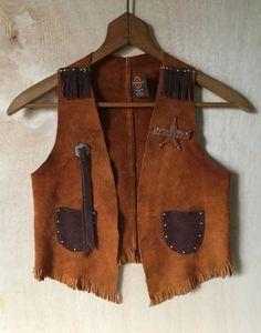 Vintage 1970s Children's Cowboy Suede Leather by ForestaVintage
