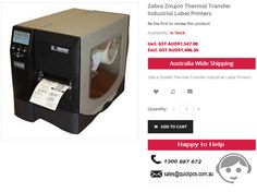 Point of SALE in Zebra Zm400 Thermal Transfer Industrial Label Printers at QuickPOS store in Sydney. Our service to only customers across Australia..!  http://www.quickpos.com.au/zebra-thermal-transfer-industrial-label-printer-zm400-2006-0000t