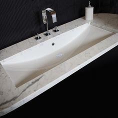vc836u 36 undermount bathroom trough sink the cube