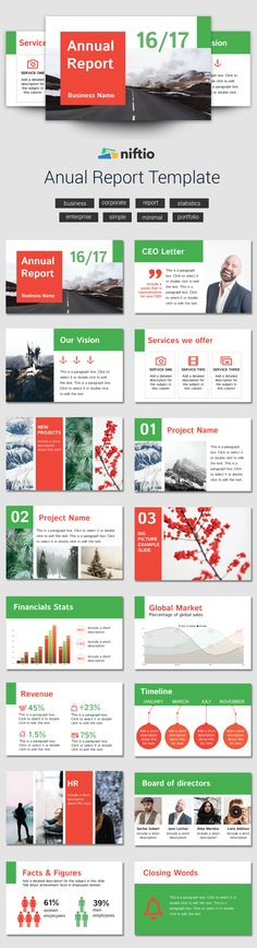 2016 it's almost over and it's time to showcase your company's achievements. To get the weight of designing your slides off your shoulders we created this new presentation template. Check out the 'Annual Report': Business Presentation Templates, Professional Presentation, Slide Design, Report Template, Lettering, Check, Drawing Letters, Texting