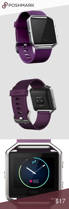 Fitbit Blaze Silicone Band with Frame Original Fitbit Blaze Plum Silicone Band with Silver Frame. Size Small, see sizing chart.                    Designed with a water-resistant band and stainless steel buckle, these bands deliver comfort and durability no matter what your day has in store.                     ***Does not include Fitbit, listing is for band with attached frame only***                                                           New, never worn Fitbit Accessories Watches