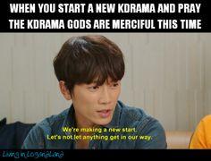But seems the gods won't listen every single time - Memes World Kdrama Memes, Funny Kpop Memes, Bts Memes, Korean Drama Funny, Korean Drama Quotes, Drama Fever, Drama Drama, Quotes That Describe Me, Love K