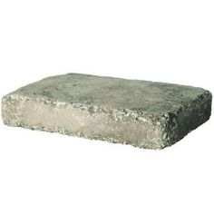 Pavestone 10.5 in. x 7 in. Greystone RumbleStone Rec Concrete Paver-90934 at The Home Depot  - garden edging