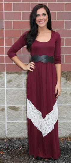 Lace Chevron Maxi! Find more like this here http://studentrate.com/fashion/fashion.aspx