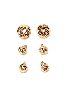 Knotted Stud Set | Forever 21 - 1000155154