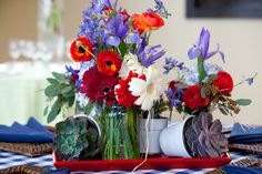 A Buttercup centerpiece suggestion for a fun summer soiree!