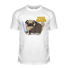 Pug unisex star wars t-shirt in sizes s-xxl at www.ilovepugs.co.uk  post worldwide
