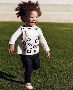 Baby Girl's Wild Long Sleeve Tee - Bardot Junior