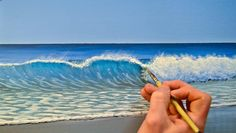 How to paint a wave in acrylic - acrylic painting man eine Welle in Acryl malen kann – Acrylicpainting 2019 How to paint a wave in acrylic paint - Acrylic Painting Techniques, Art Techniques, Beginner Painting, Acrylic Art, Acrylic Wave Painting, Ocean Wave Painting, Painting Canvas, Beach Art, Pictures To Paint