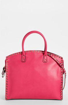 Valentino 'Rockstud' Leather Dome Satchel ...