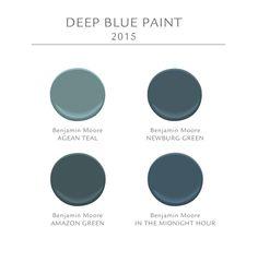 Deep Blue Paint Ideas