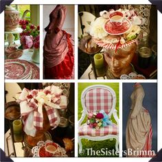 "Our #Victorian #Summer ... What would your photo album look like? This would be a page from ours,featuring our ""Tea for One"" Hat. #Picnic #Tea #GardenParty #LawnParty"