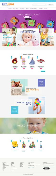 Template 61355 - Toy Jung  Responsive PrestaShop  Theme