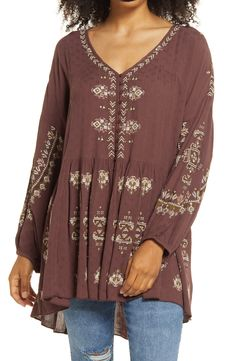 Peasant Tops, Tunic Tops, Embroidered Tunic, Plus Size Womens Clothing, Size Clothing, Free People Tops, Cool Outfits, Indie Outfits, Casual Outfits