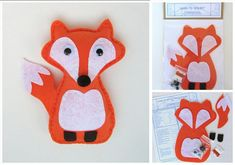 Learn to Sew Kit for Kids - Friendly Fox in Orange