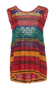 Medium spencer vladimir stripe tulum trapeze crochet tank