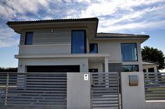 Projekt domu Riwiera Balcony Railing Design, Architect House, Modern House Design, Living Room Decor, House Plans, Garage Doors, Sweet Home, Places, Outdoor Decor