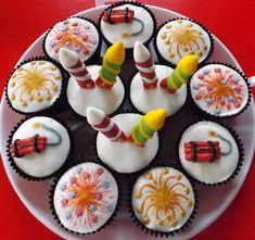 Fireworks cupcakes by fantasy fondant