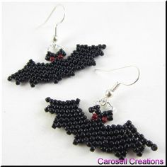 Halloween Holiday Vampire Bat Beadwork Seed Bead by carosell
