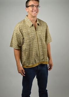 Men's Shirt, Hawaiian Shirt, Vintage Shirt, 60s Shirt, Haband Shirt, Short Sleeve, Beach Shirt, Kawaii Shirt, Beach Party, Size XL by BuffaloGalVintage on Etsy