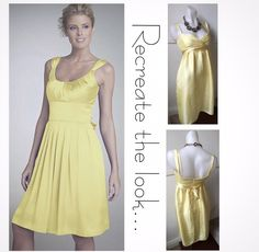 Size 8: Yellow silk dress SOLD