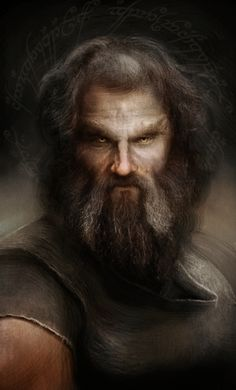 """Beorn, the Skinchanger """"Beorn appears in """"The Hobbit"""": a man who could assume the appearance of a great black bear. He's described by Tolkien as very big, tall and strong. Beorn's design was tricky…. Fantasy Portraits, Character Portraits, Character Art, Character Ideas, Tolkien, Beorn Hobbit, The Hobbit, Fantasy Male, Fantasy Rpg"""