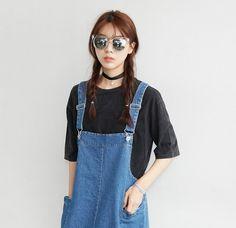 denim overall #pixiemarket #fashion @pixiemarket