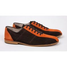 Delicious Junction Watts Orange and Brown Bowling Shoe  http://scootssuitsandboots.com/delicious-junction-watts-bowling-shoe-orange-brown