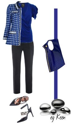 """""""Work Outfit (blue, black)"""" by eg-keen on Polyvore"""