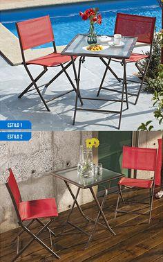 Crear ambientes únicos es más fácil con la ayuda de esta terraza de estilo agradable y compacta para espacios reducidos #Sodimac #Homecenter.