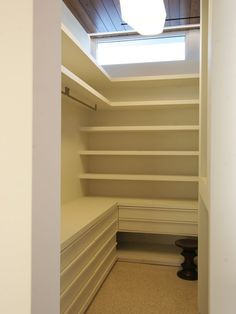 Practical Walk-in Closet for small space