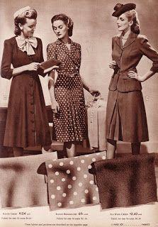 A escassez de tecidos fez com que as mulheres tivessem de reformar suas roupas e utilizar materiais alternativos na época, como a viscose, o raiom e as fibras sintéticas.