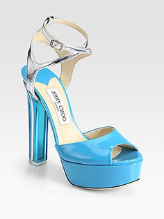 Jimmy Choo Lolita Patent & Metallic Leather Platform Sandals Here is a great deal! WAS: $1295 ON SALE: $518