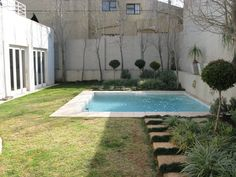 This Jo'burg garden's most unattractive features – its boundary walls – were turned into an Decor, Outdoor Decor, Boundary Walls, Small Gardens, Backdrops, Makeover, Entertaining Area, Garden S, Garden Makeover