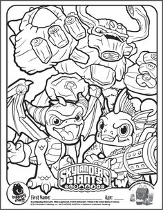 All-Things Skylanders Birthday Party at SkylandsAndBeyond.com: Invitations, Goods & Supplies UPrint | Ideas for games & favors | FREE Printables