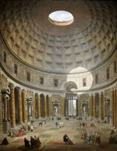 The Interior of the Pantheon in Rome (1747) Giovanni Paolo Pannini Cleveland Museum of Art