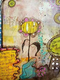 Art journal techniques with Jodi Ohl   ClothPaperScissors.com #mixedmedia #artjournal #creativity