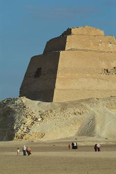 Pyramid of Meidum. Thought to have been built for Huni, the last Pharaoh of the 3rd dynasty. It is believed there was a partial collapse and the construction was abandoned. Meidum, EGYPT.