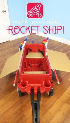 Make your own Rocket Ship craft using a wagon! Let your imagination soar like Riley and her imaginary friend Bing Bong in the movie Inside Out!