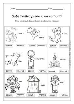 Substantivos - Atividades Adriana Teaching Writing, Too Cool For School, Classroom, Education, Gabriel, Nova, Writing Activities, Reading Activities, Synonym Activities