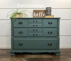 SOLD--Beautiful Green Dresser