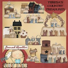 Country Candles Collection Clipart