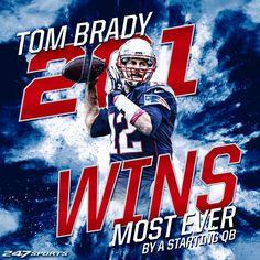 Tom Brady is now the winningest quarterback in NFL history. 6927572c4cec5