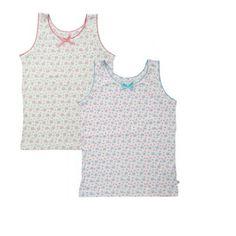 Frugi Φανελάκια για Κοριτσάκια Σετ των 2 Τεμαχίων – Λουλουδάκια - Sunnyside Underwear, Vest, Lingerie