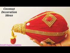 Crochet Flower Tutorial, Crochet Flowers, Milk Crate Furniture, Kalash Decoration, Bangle Ceremony, Flower Jewellery For Mehndi, Coconut Decoration, Milk Crates, Traditional Art