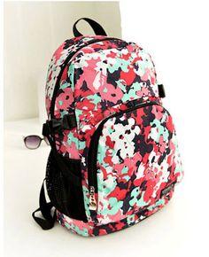 Casual backpack ,school bags.Painting