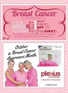 Everyone should check out the awesome Breast Check Kits that Plexus offers. They're running a special this month. This product was featured on The Doctors TV show. Message me for more info or add me as a friend on facebook! http://meghanrocksthepinkdrink.myplexusproducts.com/ #breastcancerawareness #pinkpower #savethetatas #boobies #pink