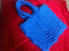 Cable knit bag - my first cable project.